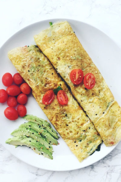 One Ingredient Egg Crepes