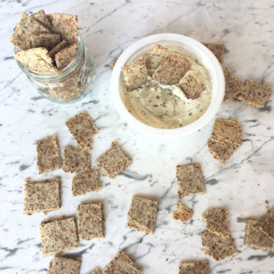 Rosemary Garlic Almond Meal Crackers