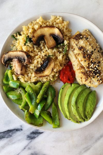 Cilantro Chipotle Lime Cauliflower Rice